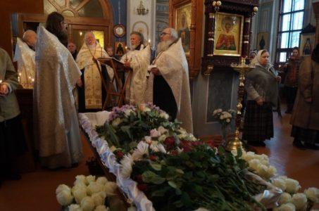 Отпевание матушки Ольги Поляковой, дочери священномученика Владимира Медведюка