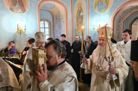 Митрополит Каширский Феогност освятил храм прп. Сергия Радонежского в звоннице Саввино-Сторожевского монастыря